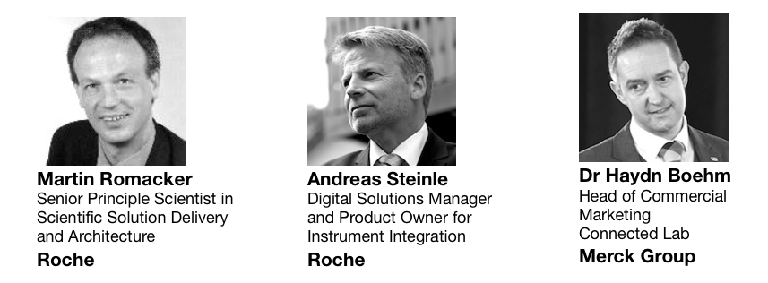 Martin Romacker at Roche, Andreas Steinle at Roche and Haydn Boehm of Merck Group